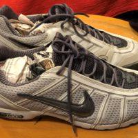 Scarpe da scherma Nike Air Zoom Fencer bianche misura 44.5 IGIENIZZATE
