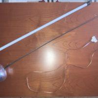 Spada elettrificata professionale lama 90.00cm con passante e custodia